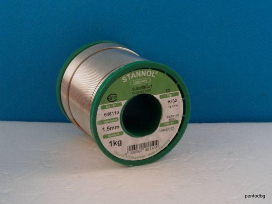 Тинол безоловен S-SN99Cu1  1.5mm 1kg Stannol