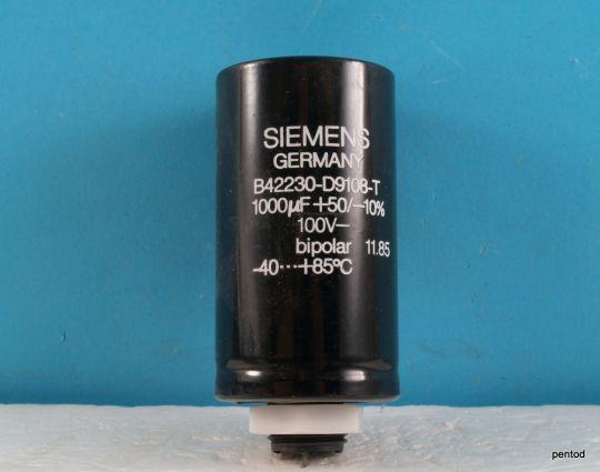 Кондензатор биполярен 1000uF 100V B42230-D9108-T  Siemens