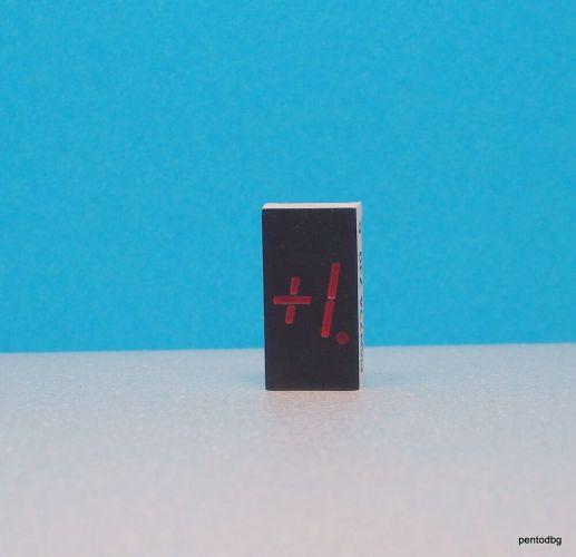 Единичен седем сегментен индикатор MAN73A червен