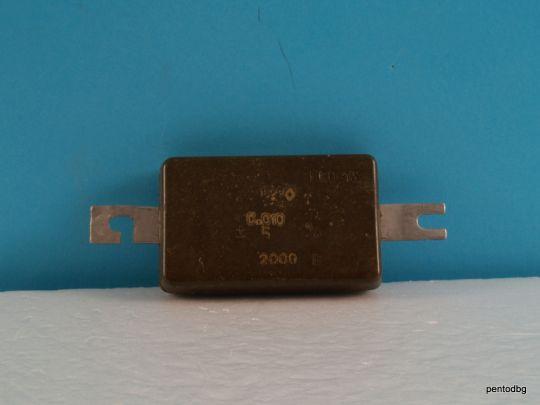 Слюден аудио кондензатор КСО-13А 1600пФ 1.6нФ 5000В +/-5% СССР